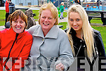 WAITING: Laura O'Sullivan, Mary Tynan and Aisling Tynan, waiting forn the Ballyheigue St Patrick's Day Parade on Monday.