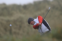 Conor Murtagh (Balcarrick) on the 13th tee during Round 2 of the Ulster Boys Championship at Portrush Golf Club, Portrush, Co. Antrim on the Valley course on Wednesday 31st Oct 2018.<br /> Picture:  Thos Caffrey / www.golffile.ie<br /> <br /> All photo usage must carry mandatory copyright credit (&copy; Golffile | Thos Caffrey)