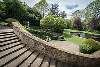 BNPS.co.uk (01202 558833)<br /> Pic: MrAndMrsClarke/BNPS<br /> <br /> Garden. <br /> <br /> A luxury house on an English country estate where the Allies plotted the infamous assassination of one of Adolf Hitler's top henchmen has gone on the market.<br /> <br /> Rooftops, a Norwegian-style chalet, is located on the Moreton Paddox estate in Warwickshire where 4,000 Czech soldiers were billeted during the Second World War.<br /> <br /> The plot to assasinate Nazi monster SS General Reinhard Heydrich involved two Czech soldiers who parachuted into Prague where they attacked and killed him as he was driven to work. <br /> <br /> His death led to appalling Nazi reprisals on locals, with more than 1,300 men, women and children massacred.<br /> <br /> The Edwardian mansion at Moreton Paddox that was requisitioned for the war effort was later demolished and Rooftops was built on the grounds in 2009.