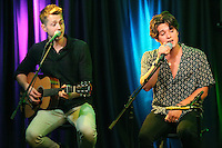 BALA CYNWYD, PA - FEBRUARY 22 :  The Vamps visit Q102 performance theater in Bala Cynwyd, Pa on February 22, 2017  photo credit Star Shooter / MediaPunch