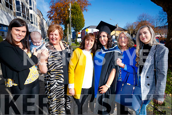 Katie Guinan, who graduated with an honours degree in Applied Social Studies from IT Tralee with her family Ashleigh Guinan, Darragh Hayes, Caroline O'Halloran, Anne Boyle, Katie Guinan, Marie Boyle and Nicole Comerford.