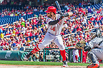 20 September 2015: Washington Nationals outfielder Bryce Harper up to bat against the Miami Marlins at Nationals Park in Washington, DC. The Nationals defeated the Marlins 13-3 to take the final game of their 4-game series. Mandatory Credit: Ed Wolfstein Photo *** RAW (NEF) Image File Available ***