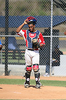 Dalin Cuesto participates in the Dominican Prospect League 2014 Louisville Slugger Tournament at the New York Yankees academy in Boca Chica, Dominican Republic on January 20-21, 2014 (Bill Mitchell)