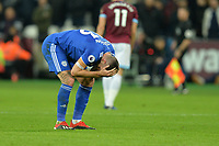 Callum Paterson with a head injury during West Ham United vs Cardiff City, Premier League Football at The London Stadium on 4th December 2018