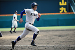 Shohei Wakabayashi (),<br /> APRIL 1, 2016 - Baseball :<br /> Shohei Wakabayashi of Riseisha scores to tie the game 3-3 in the eighth inningg during the 89th National High School Baseball Invitational Tournament final game between Riseisha 3-8 Osaka Toin at Koshien Stadium in Hyogo, Japan. (Photo by Katsuro Okazawa/AFLO)