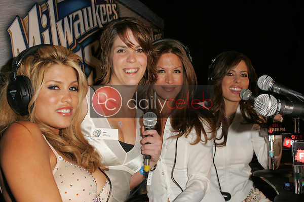 """A """"Two Chicks and a Bunny"""" fan is """"branded"""" by the hosts<br /> <br /> at """"Milwaukee's Best"""" Bash hosted by 97.1 Free FM's """"Two Chicks and a Bunny,"""" Playboy Mansion, Beverly Hills, CA 02-25-06<br /> <br /> <br /> <br /> David Edwards/DailyCeleb.com 818-249-4998"""