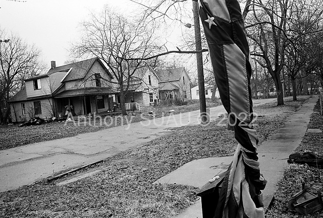 Flint, Michigan<br /> March 25, 200<br /> <br /> Abandoned homes line the streets in the birthplace of the General Motors Corporation.