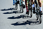 Shadows on the road during Stage 2 of the Criterium du Dauphine 2017, running 171km from Saint-Chamond to Arlanc, France. 5th June 2017. <br /> Picture: ASO/A.Broadway | Cyclefile<br /> <br /> <br /> All photos usage must carry mandatory copyright credit (&copy; Cyclefile | ASO/A.Broadway)