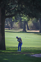 Jon Rahm (ESP) chips on to number 1 during round 3 of the World Golf Championships, Mexico, Club De Golf Chapultepec, Mexico City, Mexico. 3/3/2018.<br /> Picture: Golffile | Ken Murray<br /> <br /> <br /> All photo usage must carry mandatory copyright credit (&copy; Golffile | Ken Murray)
