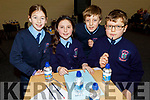 Ardfert NS taking part in the Cara Credit Union School Quiz in the I T Tralee on Sunday. <br /> L to r: Hazel O'Sullivan, Rachel Lennon, Luke Baxter and Alex Thornton.