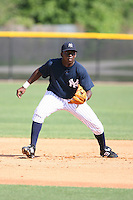 March 17th 2008:  Jose Pirela of the New York Yankees minor league system during Spring Training at Legends Field Complex in Tampa, FL.  Photo by:  Mike Janes/Four Seam Images