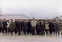 Syria 1998.Damascus: Abdulla Ocalan with young women fighters   Syrie 1998 A Damas , Abdullaa Ocalan posant avec des combattantes du PKK