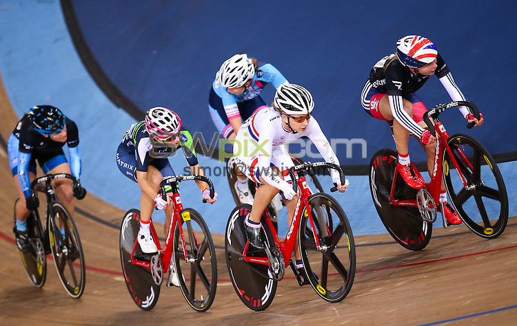 Picture by Alex Whitehead/SWpix.com - 02/12/2016 - Track Cycling - Revolution Champions League - Lee Valley Velopark, London, England - Matrix Fitness' Laura Kenny in action during the Women's Points Race.