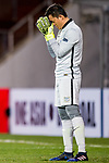 Kitchee Goalkeeper Wang Zhenpeng prays during their AFC Champions League 2017 Playoff Stage match between Ulsan Hyundai FC (KOR) vs Kitchee SC (HKG) at the Ulsan Munsu Football Stadium on 07 February 2017 in Ulsan, South Korea. Photo by Chung Yan Man / Power Sport Images