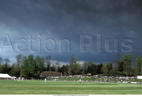 Cricket, ARUNDEL Tour Match v India, 960505. Photo: Glyn Kirk/Action Plus...1996.storm.ground.grounds.venue venues