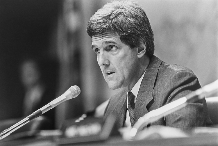 Sen. John Kerry, D-Mass., at the MLA Hearing in 1992. (Photo by Laura Patterson/CQ Roll Call via Getty Images)