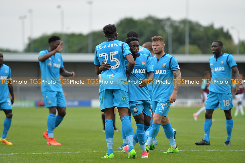 barnet team celebrate during Barnet vs West Ham United, Friendly Match Football at the Hive Stadium on 15th July 2017