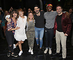 """Cast making their Broadway debuts during the Broadway Opening Night Actors' Equity Legacy Robe Ceremony honoring Jill Abramovitz for """"Beetlejuice"""" at The Wintergarden on April 25, 2019  in New York City."""