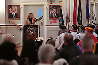 NWA Democrat-Gazette/J.T. WAMPLER Anita Deason speaks Thursday, November 7, 2019 during the annual Veterans Day Observance Ceremony at the Veterans Health Care System of the Ozarks (VHSO) in Fayetteville. Deason is a retired colonel in the Army National Guard and the current military liaison for senator John Boozman.