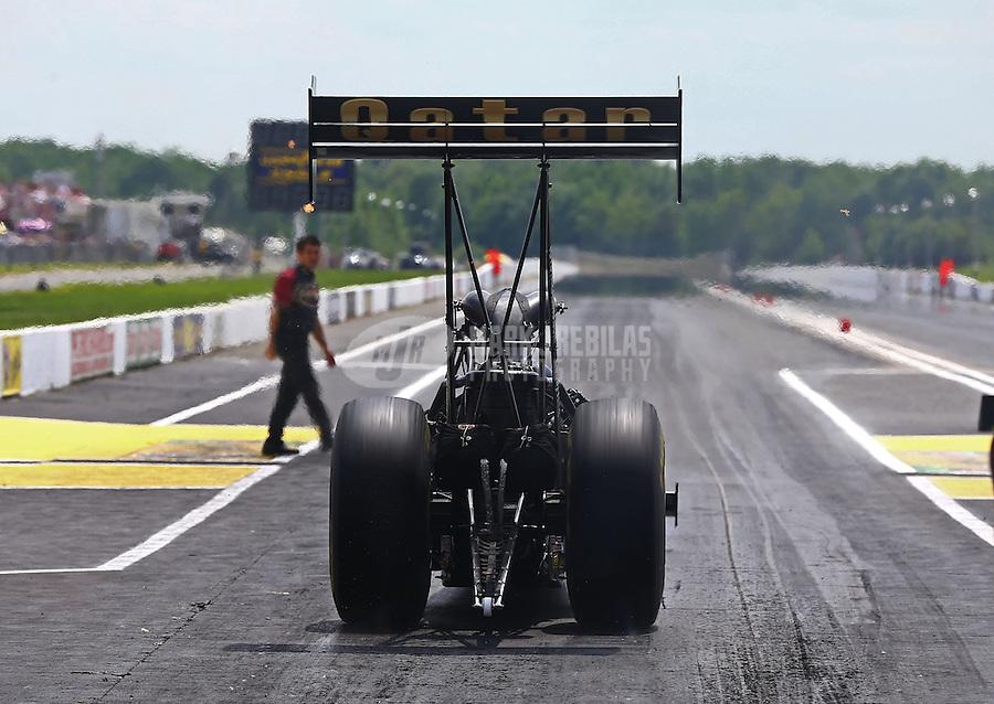 Jun. 2, 2013; Englishtown, NJ, USA: NHRA top fuel dragster driver Khalid Albalooshi during the Summer Nationals at Raceway Park. Mandatory Credit: Mark J. Rebilas-