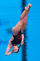 Picture by Alex Whitehead/SWpix.com - 13/04/2018 - Commonwealth Games - Diving - Optus Aquatics Centre, Gold Coast, Australia - Katherine Torrance of England competes in the Women's 1m Springboard prelims.
