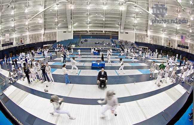 Feb. 23, 2013; Fencing..Photo by Matt Cashore/University of Notre Dame