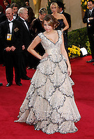 Miley Cyrus arrives at the 81st Annual Academy Awards held at the Kodak Theatre in Hollywood, Los Angeles, California on 22 February 2009
