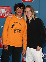 05 November 2018 - Hollywood, California - Daniel Lara and Josh Holz &quot;Ralph Breaks The Internet&quot; Los Angeles Premiere held at El Capitan Theater. <br /> <br /> CAP/ADM/FS<br /> &copy;FS/ADM/Capital Pictures