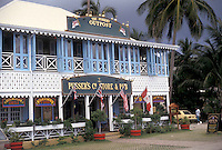 AJ2375, British Virgin Islands, Tortola, Caribbean, Virgin Islands, BVI, B.V.I., Pusser's Store and Pub in Road Town on the island of Tortola on the British Virgin Islands.