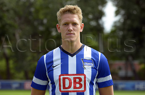 28.06.2013. Berlin, Germany.  Johannes van den Bergh of German Bundesliga club Hertha BSC during the official photocall of season 2013-14  in 2013 in Berlin on the training ground in the Olympic Stadium.