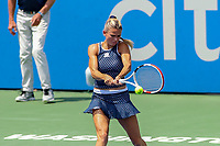 Washington, DC - August 4, 2019:  Camila Giorgi (ITA) hits a backhand shot during the Citi Open WTA Singles final at William H.G. FitzGerald Tennis Center in Washington, DC  August 4, 2019.  (Photo by Elliott Brown/Media Images International)