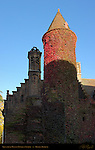 Gruuthuse Museum Tower at Sunrise 13th century, Bruges, Brugge, Belgium