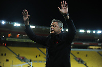 Phoenix coach Mark Rudan thanks fans after the A-League football match between Wellington Phoenix and Melbourne City FC at Westpac Stadium in Wellington, New Zealand on Sunday, 21 April 2019. Photo: Dave Lintott / lintottphoto.co.nz
