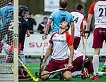 ALMERE - Hockey - Hoofdklasse competitie heren. ALMERE-HGC (0-1) . Jonas de Geus (Almere) heeft een kans gemist. COPYRIGHT KOEN SUYK