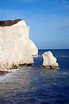 Chalk cliffs at Seaford Head, East Sussex, England