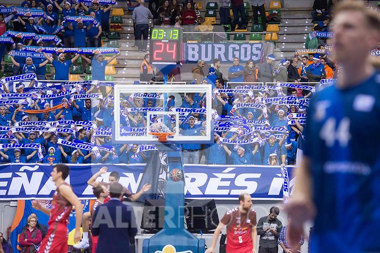 San Pablo Burgos supporters during Liga Endesa match between San Pablo Burgos and Gipuzkoa Basket at Coliseum Burgos in Burgos, Spain. December 30, 2017. (ALTERPHOTOS/Borja B.Hojas)
