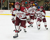 Jimmy Vesey (Harvard - 19), Desmond Bergin (Harvard - 37), Brian Hart (Harvard - 39), Sean Malone (Harvard - 17) - The Harvard University Crimson defeated the Princeton University Tigers 3-2 on Friday, January 31, 2014, at the Bright-Landry Hockey Center in Cambridge, Massachusetts.