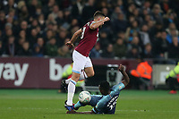 Robert Snodgrass of West Ham United and Victor Wanyama of Tottenham Hotspur during West Ham United vs Tottenham Hotspur, Caraboa Cup Football at The London Stadium on 31st October 2018