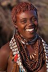Hamar tribeswoman, Ethiopia