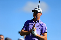 Justin Thomas (USA) on the 3rd tee during the 2nd round of the Waste Management Phoenix Open, TPC Scottsdale, Scottsdale, Arisona, USA. 01/02/2019.<br /> Picture Fran Caffrey / Golffile.ie<br /> <br /> All photo usage must carry mandatory copyright credit (© Golffile | Fran Caffrey)