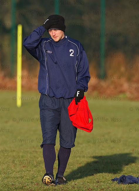 James Fowler at training