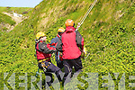 8740-8760.Cliff Rescue - Gareth Roche along with his team, The Kerry Civil Defence Search & Rescue team performing a cliff Rescue using a Larkin Device at The Coastguard Joint Search and Rescue Competition which took place in Ballybunion on Saturday..