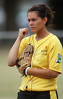 Wellington's Charlotte Pointon during round two of the National Women's Softball Championships at Hataitai Park, Wellington, NewZealand on Sunday 2 February 2009. Photo: Dave Lintott / lintottphoto.co.nz