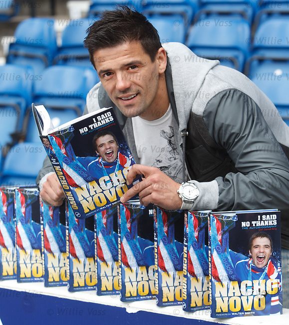 "Nacho Novo launching his book ""I Said No Thanks'"" at Ibrox Stadium"
