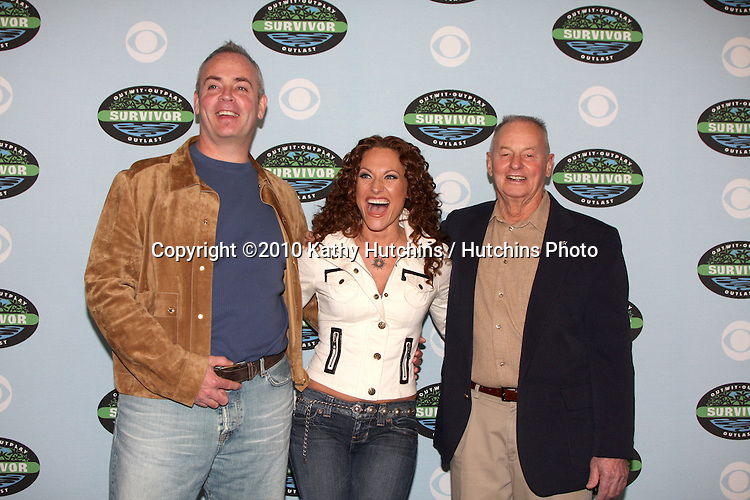 """Richard Hatch, Jerry Manthey,  & Rudy Boesch.arrivng at the """"Survivor"""" 10 Year Anniverary Party .CBS Television CIty.Los Angeles, CA.January 9, 2010.©2010 Kathy Hutchins / Hutchins Photo...."""