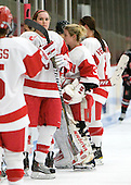 Carly Warren (BU - 6), Alissa Fromkin (BU - 30) - The Boston University Terriers defeated the visiting Northeastern University Huskies 3-0 on Tuesday, December 7, 2010, at Walter Brown Arena in Boston, Massachusetts.