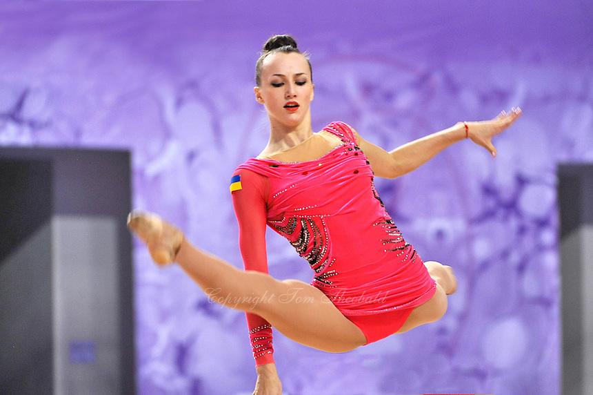 September 22, 2014 - Izmir, Turkey - ANNA RIZATDINOVA of Ukraine performs at 2014 World Championships.