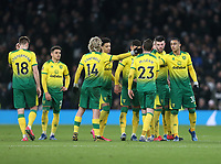 Norwich City's Kenny McLean is consoled after missing his penalty during the shoot-out<br /> <br /> Photographer Rob Newell/CameraSport<br /> <br /> The Emirates FA Cup Fifth Round - Tottenham Hotspur v Norwich City - Wednesday 4th March 2020 - Tottenham Hotspur Stadium - London<br />  <br /> World Copyright © 2020 CameraSport. All rights reserved. 43 Linden Ave. Countesthorpe. Leicester. England. LE8 5PG - Tel: +44 (0) 116 277 4147 - admin@camerasport.com - www.camerasport.com