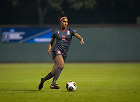 STANFORD, CA - November 9, 2018: Naomi Girma at Laird Q. Cagan Stadium. The top seeded Stanford Cardinal defeated the Seattle Redhawks 3-0 in the opening round of the NCAA tournament.
