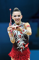 August 30, 2013 - Kiev, Ukraine - MELITINA STANIOUTA of Belarus performs at 2013 World Championships.